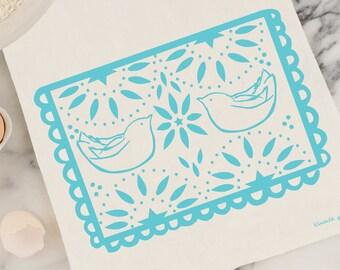 Papel Picado Dove Tea Towel