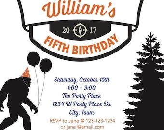 DIGITAL FILE: Bigfoot Party Invitation