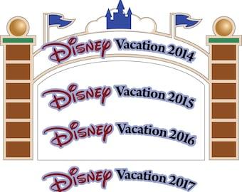 SVG/JPG/PNG Disney Cut Files entry gate/sign for scrapbooking-2014-2020