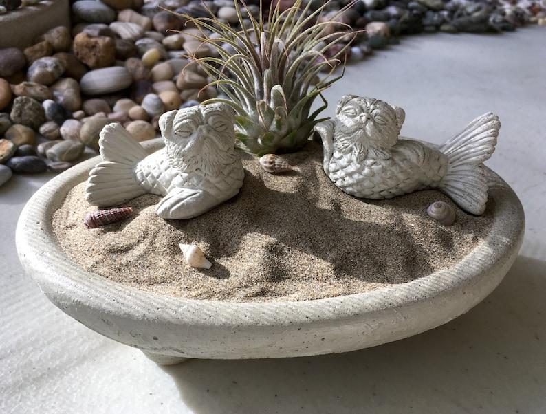 NEW Mini MerPug Mermaid DogFish Sculpture PAIR   Pug Lover Gift