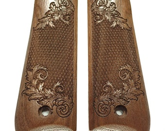 Floral Checker Walnut Ruger Mark IV 22//45 Compatible Grips Checkered Engraved Textured