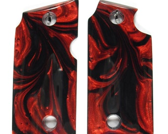 Black & Red Pearl Grips For Sig Sauer P238