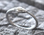 Ouroboros Ring, Snake ring, sterling silver snake, silver snake ring, ouroboros jewelry, boho snake ring, death and rebirth, snake jewelry