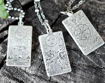 22 Cards, Tarot necklace, Tarot Card necklace, Rider Waite tarot, Tarot Deck, 925 sterling, Major arcana, fortune telling, tarot jewelry