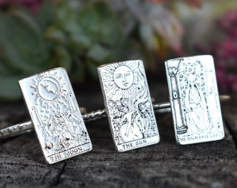 22 card, Tarot Ring, Tarot Card, sterling silver, Rider Waite tarot, Tarot Deck, Major arcana, fortune telling, witchy ring, tarot jewelry