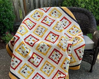 Handmade Quilt - Throw quilt - Lap Quilt - Beer - Dad - Pub - Cotton - Handmade - Homemade