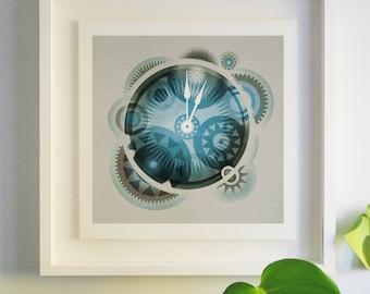 Clockface - Archival Giclee Print by Eoin Ryan
