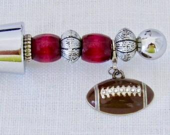 Football Wine Stopper, Sports Wine Stopper, Wine Stopper with Football, Sports Gift, Gifts Under 15, Novelty Wine Stopper