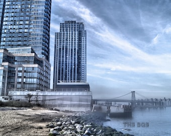 Williamsburg Bridge Photography Print, Brooklyn Photography, New York City Wall Art, Brooklyn NY,  -A Modern World