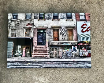 NYC Lower East Side Metal Wall Art, Graffiti Wall Art, New York City Photography Wall Art, -All Boarded Up