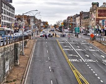 Grand Concourse Bronx Photography Print, Bronx Photography Wall Art, New York City Wall Art, South Bronx NYC, Street Photography