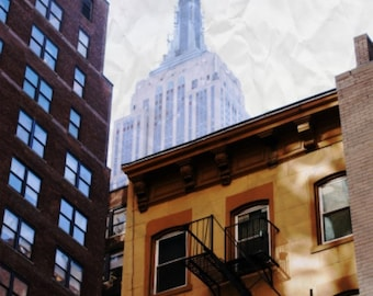 Empire State Building Appears Photography Print, NYC, New York City, Skyscraper, Fine Art by thebqe