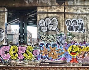 Graffiti Photography Wall Art, Connecticut Photography Print, Bridgeport Photograph, -Off Track