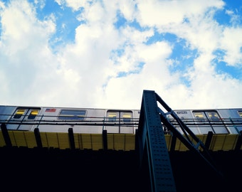 NYC Subway, No 7 Train Photography Print, New York City Wall Art, Queens Photography