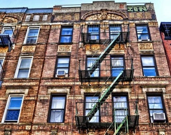 Led Zeppelin Physical Graffiti Buildings New York City Photography Print, East Village NYC Photo