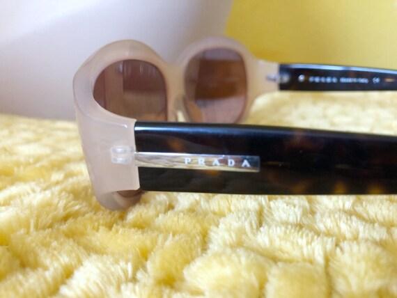 90s Authentic Prada Sunglasses in Cream Frame - image 7