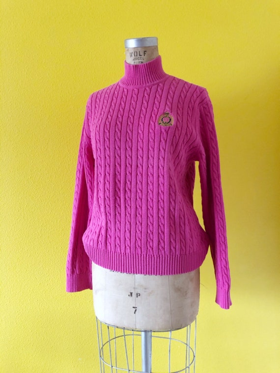 S-M 80s Ralph Lauren Embroidered Logo Pink Tunic - image 3