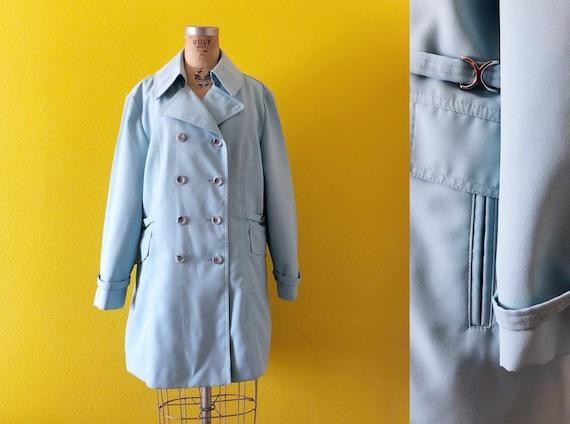 Sz M 60s Minicoat Double-Breasted Oversized Collar
