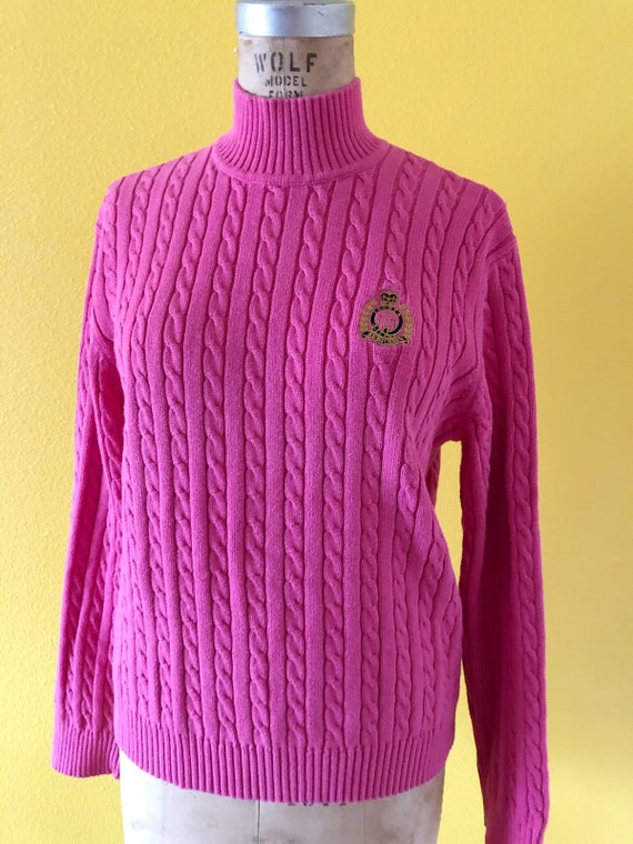 S-M 80s Ralph Lauren Embroidered Logo Pink Tunic - image 7