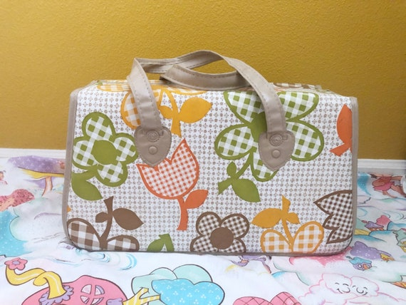 60s Flower Power Psychedelic Era Hippie Gingham Or