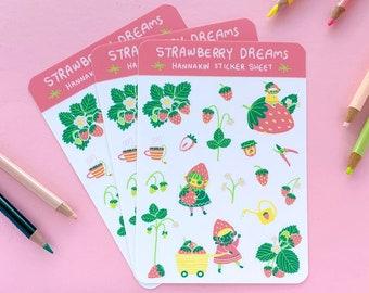 Strawberry Dreams STICKER SHEET - vinyl