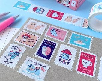 Postalpalooza WASHI TAPE - postage themed stamp tape