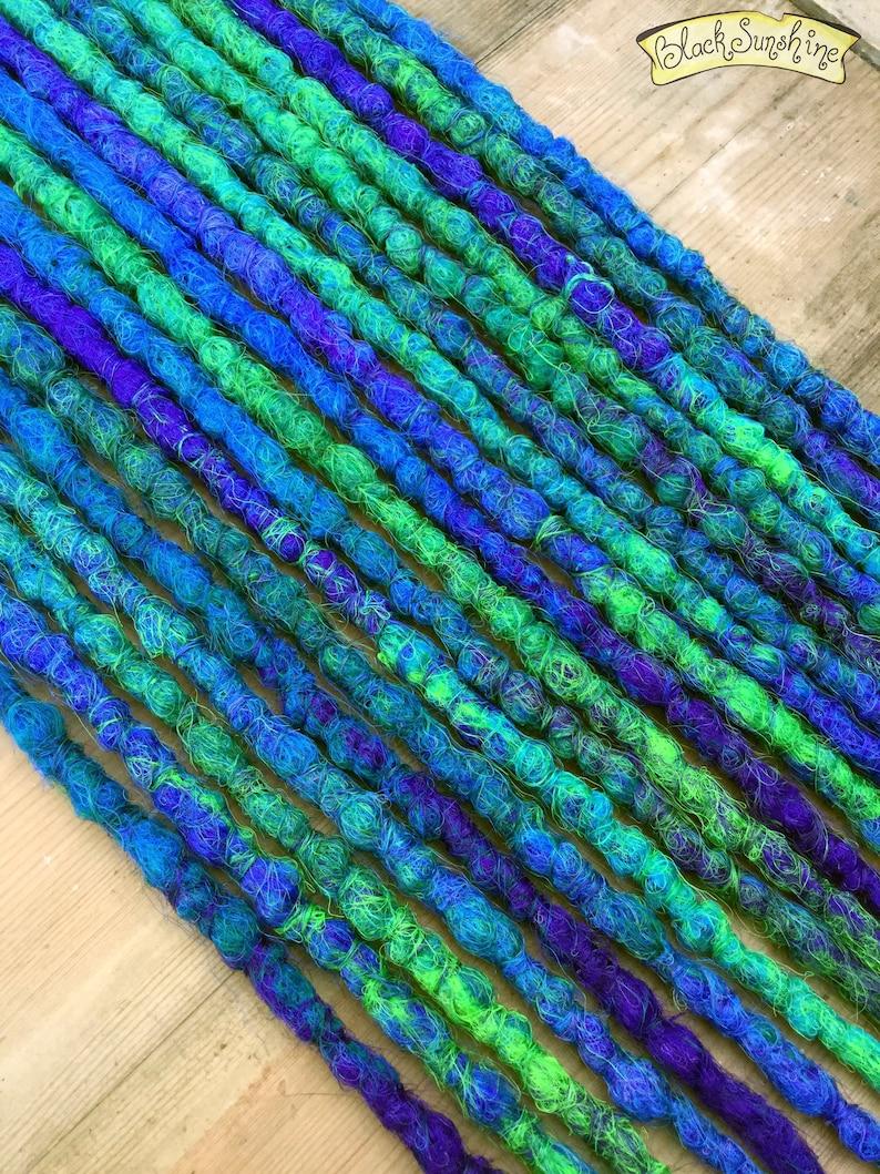 Peacock Se X18 Crochet Synthetic Dreads Purple Blue Green Etsy