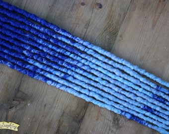 Blue Transitional SE x10 Crochet Synthetic Dreads - accent