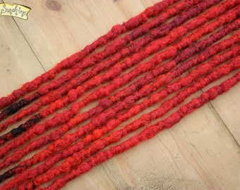 Vamp SE x10 Crochet Synthetic Dreads - red black accent