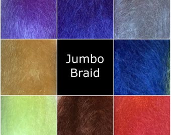 Kanekalon Jumbo Braid - Assorted Colours - red, purple, blue, green  - Braiding - Dread making
