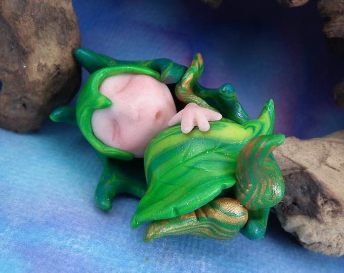 Baby Woodland Imp 'Ava' Infant Bundle Swaddle OOAK Sculpt by Sculpture Artist Ann Galvin