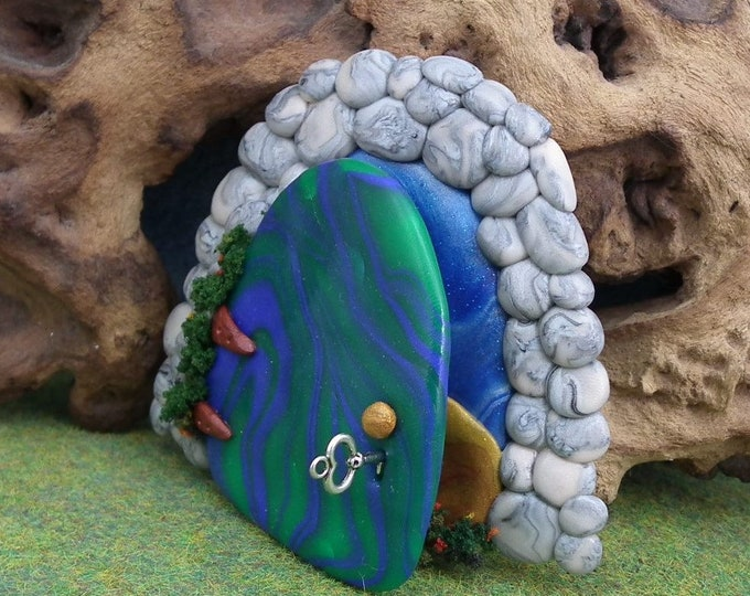 Gnomish Elf Portal for Gnome Visits OOAK Sculpt by Sculpture Artist Ann Galvin Fairy Door