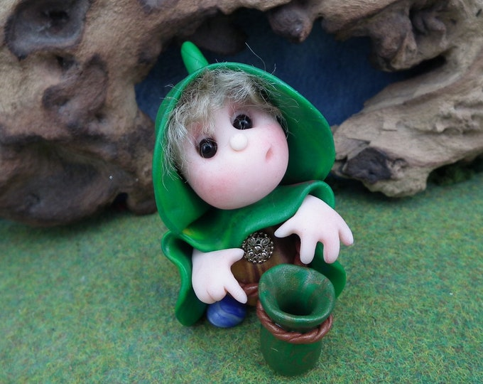 """Book character 'Wynston' with forage bag from A Tale of Sussex Gnomes 'The Rescue' by Ann Galvin 2"""""""