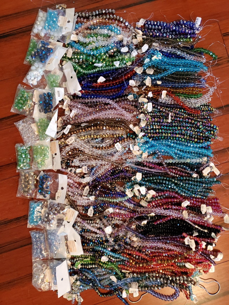 350 strands of Crystals Over 50% off  Over 15lbs  Below image 0