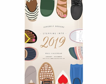 Stepping into 2019 Wall Calendar