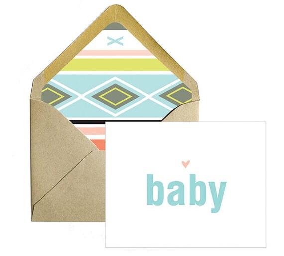 Aztec Gender neutral baby shower card