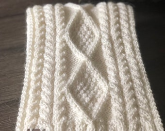 Cable Knit Scarf Etsy