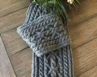 Mens Cable Scarf Etsy