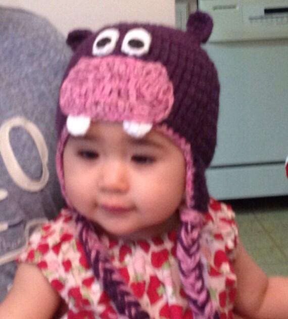 Crochet baby hippo hat 80af2aec4eb
