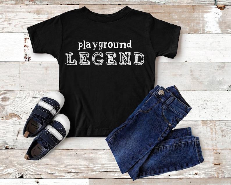 Girls Shirt Girls Tee Trendy Tee Unisex Tee Boy Tee Boy T-shirt Playground Legend Funny Shirt Boy Shirt Toddler Tee