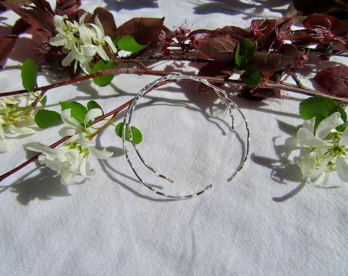 Handmade Formed Sterling Silver Bangles Set of 2