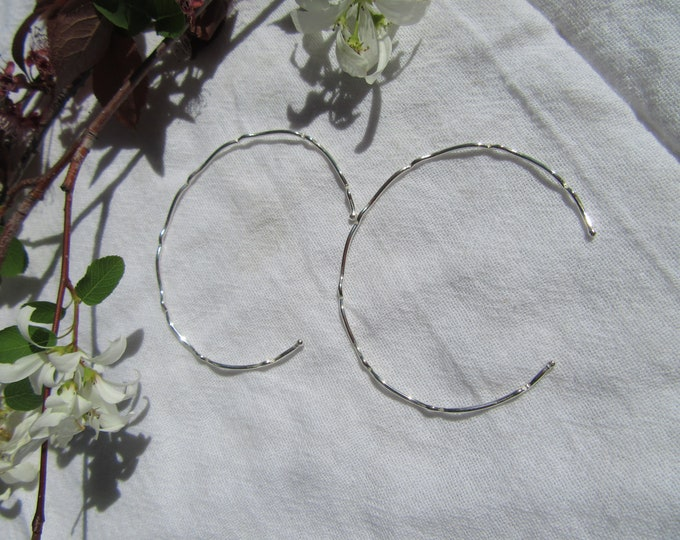 Handmade Formed Sterling Silver Bangles Set of 2