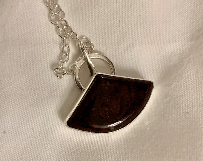 Mystique Handmade Sterling Silver and Agate Necklace