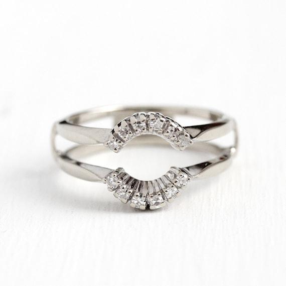 Sale Diamond Wedding Jacket Sz 7 1 2 Engagement Ring Etsy