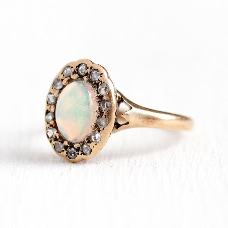 6776f1eb069 Vente opale Edwardian Ring Antique 10k rose opale or jaune