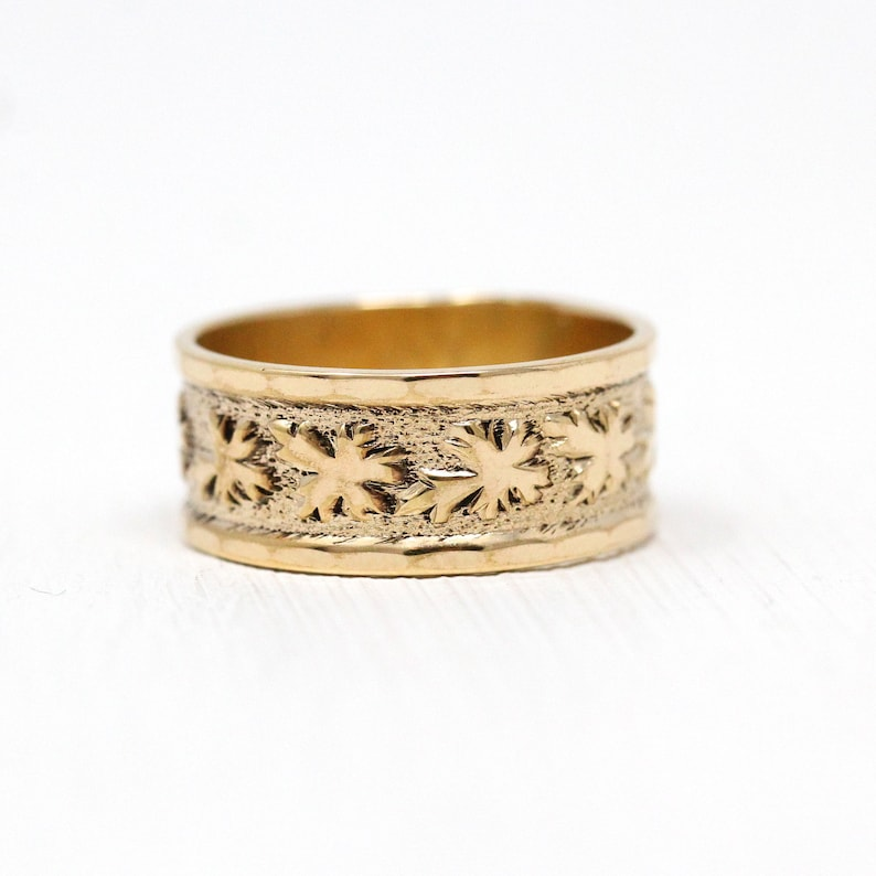 27f383eb03 Sale Vintage Cigar Band Art Deco 14k Rolled Gold Plated