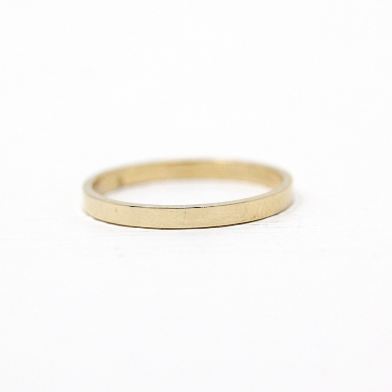 Vintage Baby Band 1940s Size 12 Midi Children/'s Simple Classic Plain 40s Fine Jewelry 10k Rosy Yellow Gold Unadorned Dainty Ring Sale
