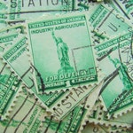 Statue of Liberty 50 Vintage NYC Postage Stamps Immigration Melting Pot Brooklyn Queens Manhattan Bronx Harlem Staten Island NYC Philately