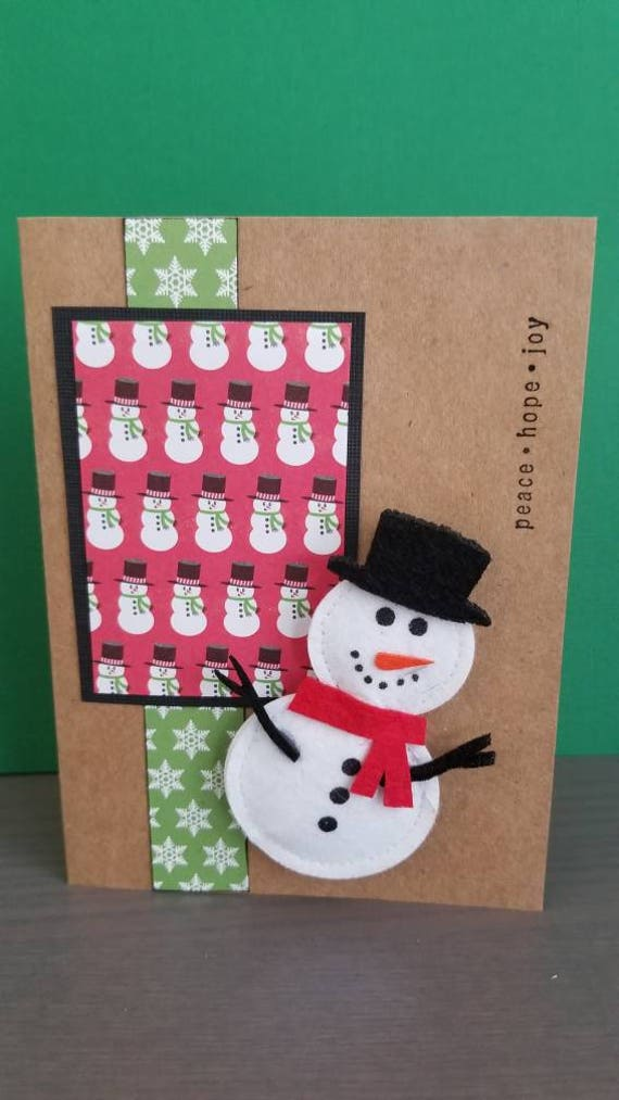 Frosty the Snowman Christmas Cards set of 4/Blank | Etsy