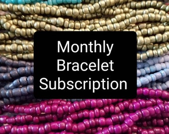 Monthly Bracelet Subscription, Beaded Bracelet, Monthly Subscription, Gifts for Her